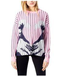 Desigual Sweatshirt - Roze