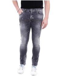 John Richmond Rmp2016je Skinny Jeans - Grijs
