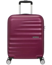 American Tourister Cabin Trolley Wavebreaker Suitcase - Paars
