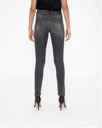Armani Exchange Jeans skinny con strass e strappi Negro