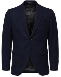 SELECTED Blazer Slim Fit Single-breasted - Blauw