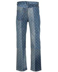 Marine Serre Jeans P021Iconmco0004 Azul