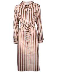 Silvian Heach Bogomoro Striped Dress - Naturel