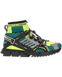 Dolce & Gabbana Sneakers Sok - Groen