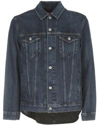 Junya Watanabe Denim Jacket Levis Collaboration W/check On Back - Blauw