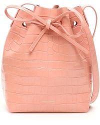 Mansur Gavriel Mini Bucket Bag - Roze