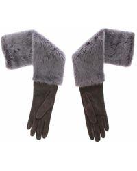Dolce & Gabbana Mink Fur Gloves - Grau