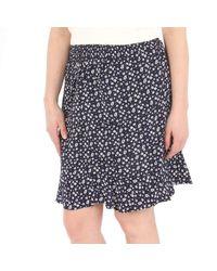 NA-KD Flower Short Smock Skirt - Blauw