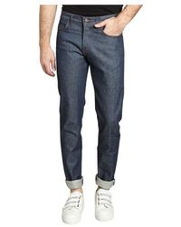 Naked & Famous Weird Guy Natural Selvedge Jeans - Blauw