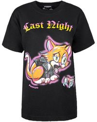 """DOMREBEL T-shirt """"last Night Box T"""" - Zwart"""