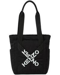 KENZO Gewatteerde Draagtas Met Logoprint - Zwart