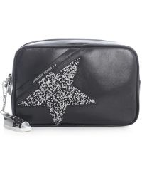 Golden Goose Deluxe Brand Star Bag Naplak Body And Shoulder Strap Swarovski Star - Zwart