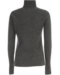 Drumohr Sweater L/S Turtle Neck W/Ribbed Wrist Gris
