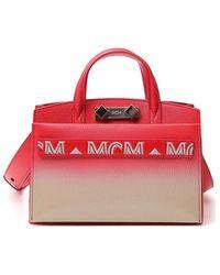 MCM Tote-logo Met Kleurverloop - Rood