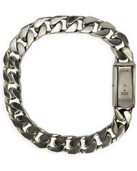 Gucci Gourmette Chain Unisex Bracelet - Grijs