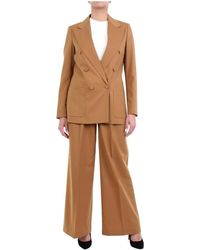 Mauro Grifoni Gh230004 Double-breasted suit - Marrone