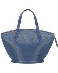 Louis Vuitton Epi Saint Jacques Pm Short Strap Leather - Blauw