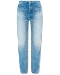 Balenciaga Jeans With Logo - Blauw