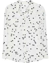 Equipment Camicia Slim Signature stelle - Bianco