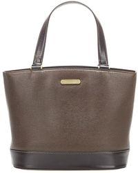 Burberry Leather Handbag - Marrone