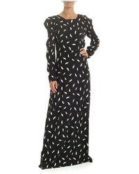 P.A.R.O.S.H. Long Dress - Zwart