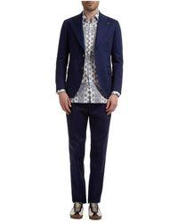 Gabriele Pasini Suit Roma - Blauw