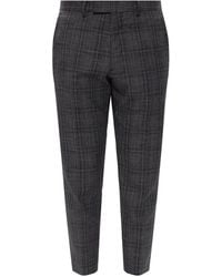 AllSaints Bennett checked trousers - Gris