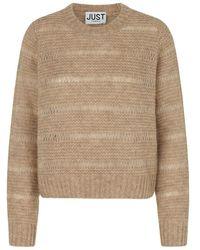 Just Female Sagi knit Jumper - Marrone