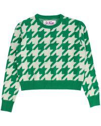 Mc2 Saint Barth New Queen P Crop Sweater - Vert