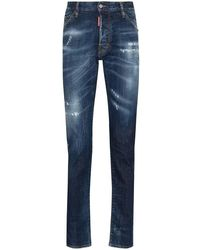 DSquared² Cool Guy Slim Jeans With Worn Effect - Blauw