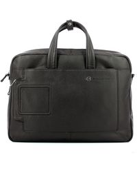 Piquadro Briefcase With Two Handles For Pc 15.6 Vibe - Bruin
