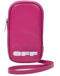 Off-White c/o Virgil Abloh Logo Iphone Holder - Roze
