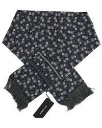 Dolce & Gabbana Foulard imprimé floral - Bleu