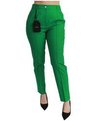Dolce & Gabbana Pantalon en coton stretch - Vert