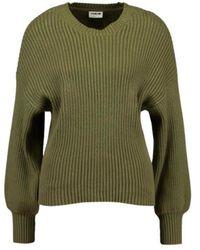 Noisy May Vete Long Sleeve O-neck Knit - Groen