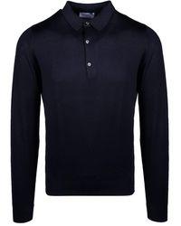 John Smedley Bradwell Shirt LS - Blu