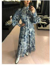 Pinko Dress puff sleaves Azul