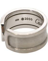 Cartier 18K C2 Anillo Metal 18K Gris