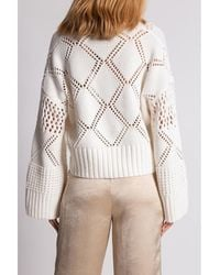 Holzweiler Sweater with cut-outs - Blanc