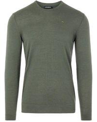 J.Lindeberg Newman Merino Crew Neck sweatshirt - Verde