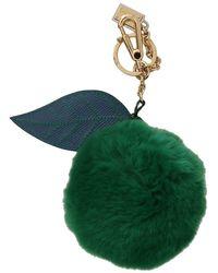 Dolce & Gabbana Bont Sluiting Sleutelhanger - Groen