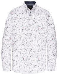 Vanguard Overhemd Print - Wit