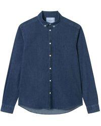 Les Deux Harper Chambray Shirt - Blauw