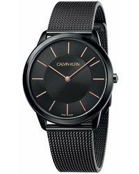 Calvin Klein Watch Minimal_k3m214 - Zwart