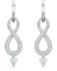 Swarovski Infinity Earrings - Gris