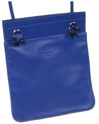 Hogan Arena Leather Crossbody Bag Calf - Blu