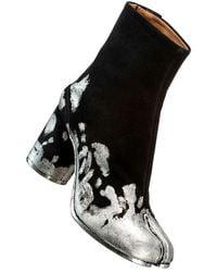 Maison Margiela Tabi suede ankle boots - Grigio