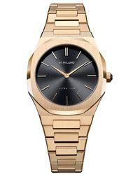 D1 Milano Watch - D1-utbl07 - Geel