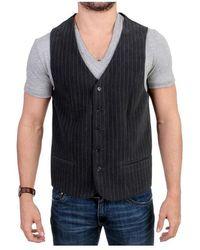 CoSTUME NATIONAL Striped casual vest - Grigio