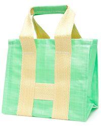 Comme des Garçons Shirt Bicolor Shopper - Groen